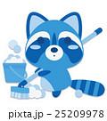 アライグマ デッキブラシ 掃除のイラスト 25209978
