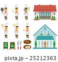 洋食店 セット シェフのイラスト 25212363