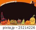ハロウィン ポストカード ジャック・オー・ランタンのイラスト 25214226