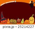 ハロウィン ポストカード ジャック・オー・ランタンのイラスト 25214227