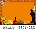 ハロウィン ポストカード ジャック・オー・ランタンのイラスト 25214233
