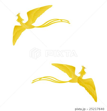 金色の鳳凰 イラストセットのイラスト素材 25217640 Pixta