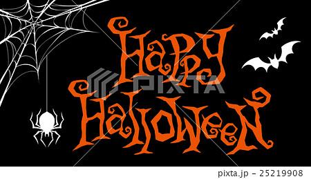 ハロウィン ロゴ2 黒バックのイラスト素材 [25219908] , PIXTA