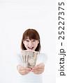 若い女性、お札 25227375