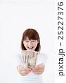 若い女性、お札 25227376