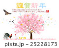 酉 桜 年賀状 背景  25228173
