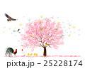 酉 桜 鶏のイラスト 25228174