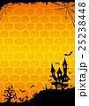ハロウィン 背景 ポストカードのイラスト 25238448