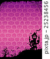 ハロウィン 背景 ポストカードのイラスト 25238456