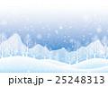 冬 雪景色 降雪のイラスト 25248313