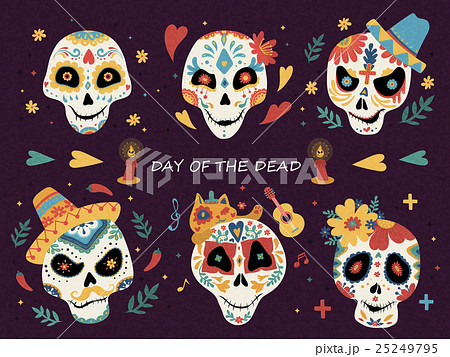 Day of the dead posterのイラスト素材 [25249795] - PIXTA