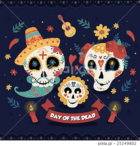 Day of the dead posterのイラスト素材 [25249802] - PIXTA