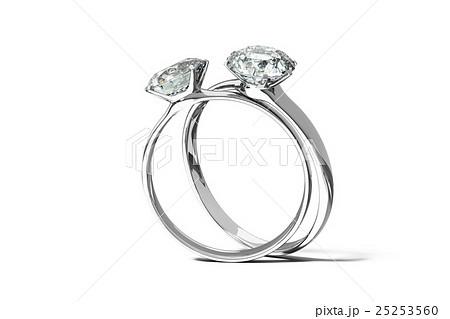ダイヤモンドリング 結婚指輪のイラスト素材 25253560 Pixta