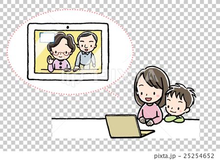 テレビ電話_孫_PC_祖父母 25254652