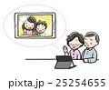 テレビ電話 祖父母 タブレットのイラスト 25254655