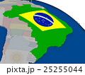 Brazil with flag 25255044
