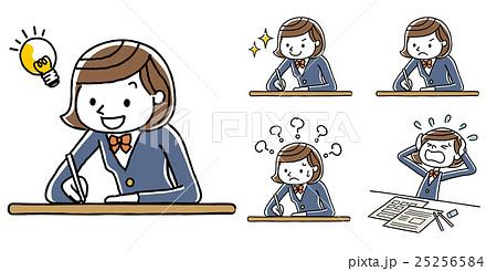 勉強する女子学生 25256584