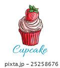 カップケーキ ベクトル クリームのイラスト 25258676