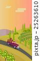 ブドウ畑 風景 蔓のイラスト 25263610