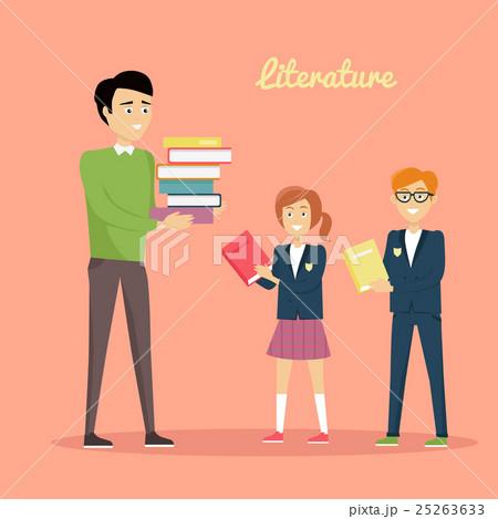 Literature Reading Concept Vector Illustration. 25263633