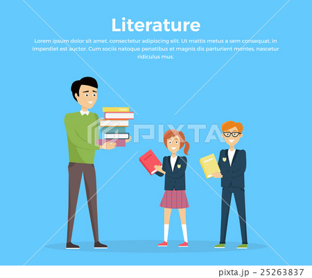 Literature Reading Concept Vector Illustration. 25263837