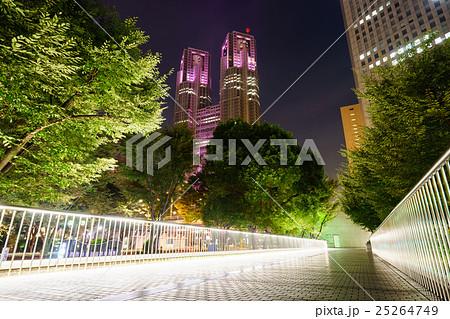 ピンクリボン運動のライトアップ、都庁。 25264749