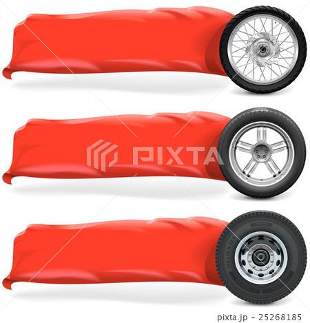 Vector Wheels with Bannerのイラスト素材 [25268185] - PIXTA