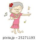 フラダンスをするシニア女性 25271193