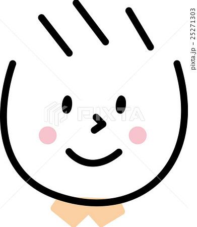 子供 笑顔 男の子 シンプルイラスト 25271303