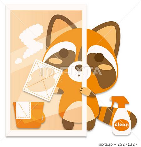 ウォシュぐま 窓拭き(橙系) 25271327