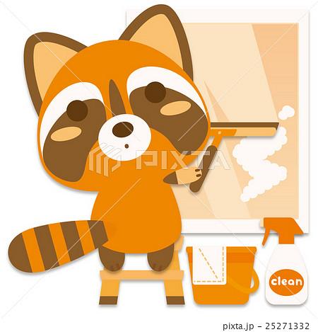 ウォシュぐま 窓拭き(橙系) 25271332