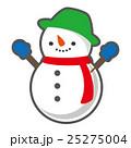雪だるま 冬 ベクターのイラスト 25275004