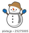 雪だるま 冬 ベクターのイラスト 25275005