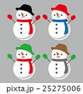 雪だるま 冬 ベクターのイラスト 25275006