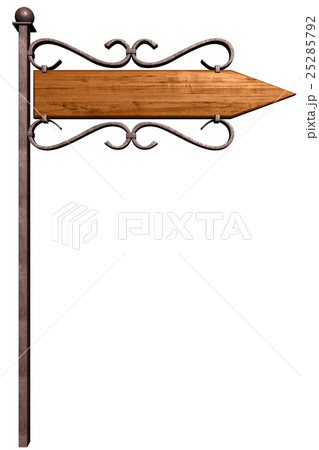 Pointer direction on street poleの写真素材 [25285792] - PIXTA