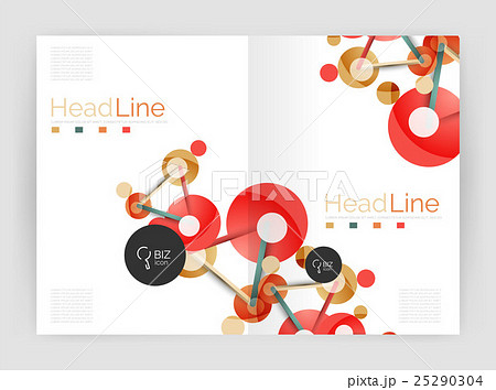Lines and circles, modern abstract business annualのイラスト素材 [25290304] - PIXTA