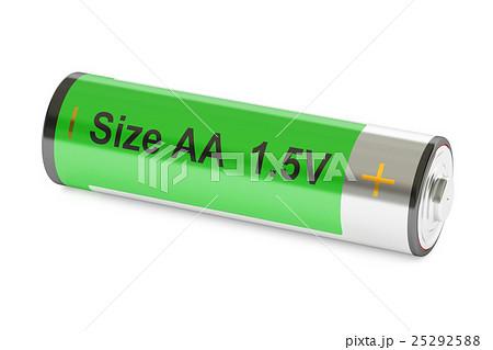 Battery size AA, 3D renderingのイラスト素材 [25292588] - PIXTA