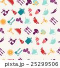 ベクトル シームレス 食のイラスト 25299506