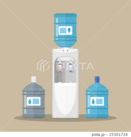 Gray water cooler with blue bottleのイラスト素材 [25301720] - PIXTA