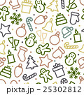 Christmas icon set seamless pattern 25302812
