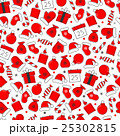 Christmas icon set seamless pattern 25302815