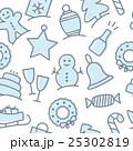 Christmas icon set seamless pattern 25302819