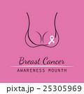 Breast Cancer October. Female bra. Information 25305969
