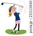 ゴルフ 女性ゴルファー 25313840