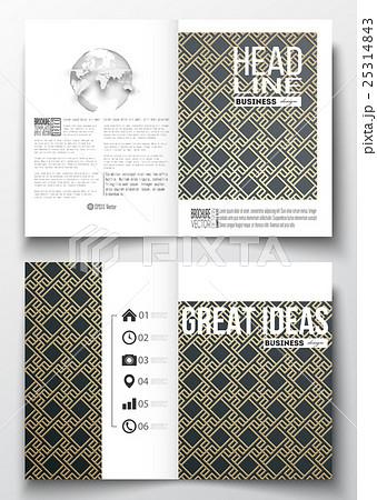 Set of business templates for brochure, magazineのイラスト素材 [25314843] - PIXTA