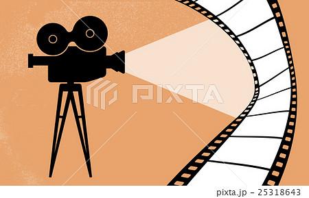 Cinema camera and movie vector illustration 25318643