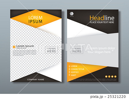 flyer design template vector book cover のイラスト素材 25321220
