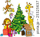 cute animals celebrate christmas 25325637