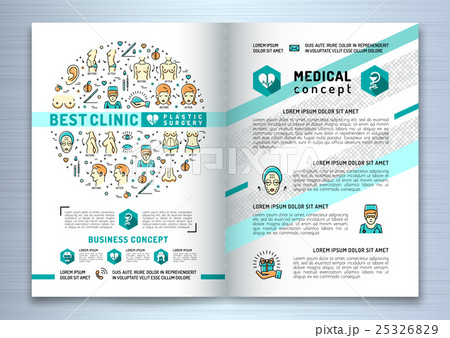 brochure plastic surgery clinic medical designのイラスト素材