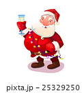 Santa with wine glass 25329250
